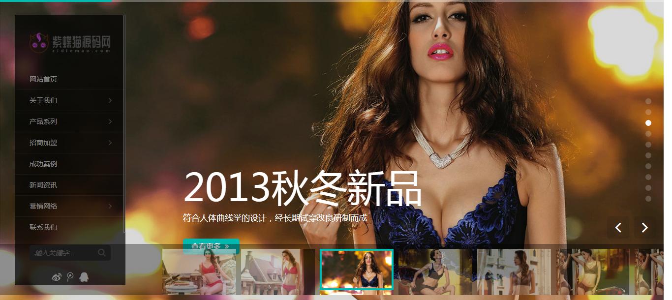 国外内衣网站模板